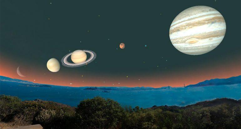 ¿Cómo ver los cinco planetas alineados en las mañanas?