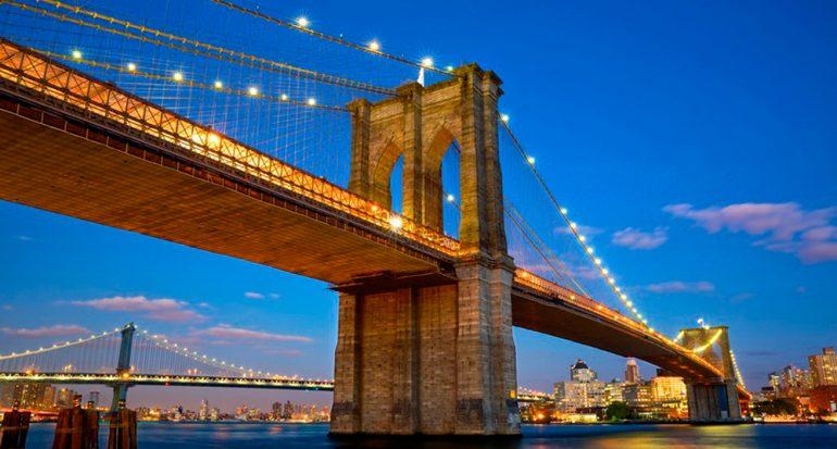 ¿Cuál fue el primer puente colgante con cables de acero?