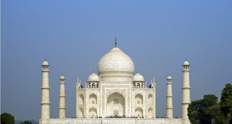 ¿El Taj Mahal es blanco?