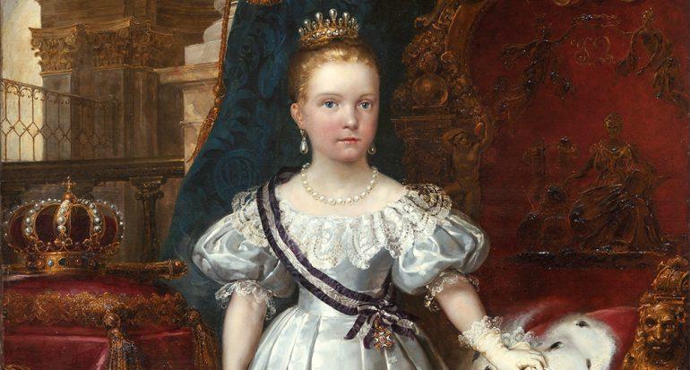 ¿Qué reina fue declarada mayor de edad con tan solo 13 años?