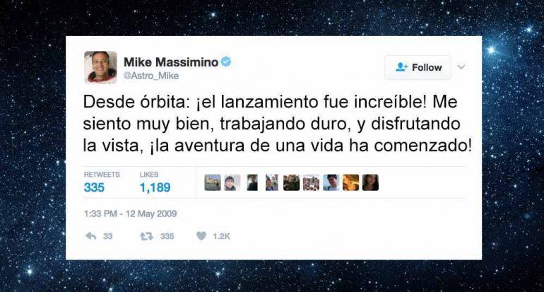 ¿Quién envío el primer tuit desde el espacio?