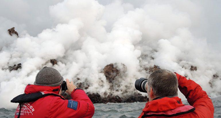 A la caza de erupciones