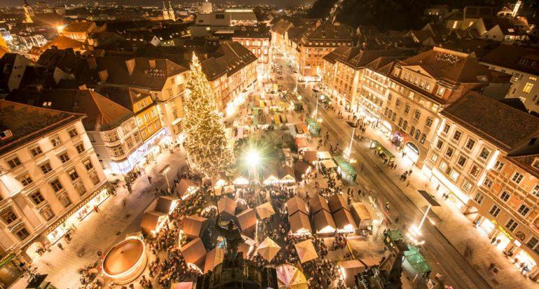 Ambiente prenavideño en la ciudad austriaca de Graz