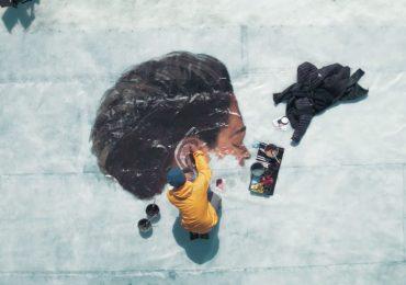 Arte en el hielo: murales en icebergs evidencian el cambio climático