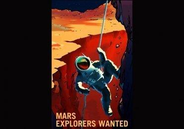 Carteles retro muestran la visión de la NASA sobre nuestro futuro en Marte