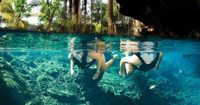 Cenotes y ríos subterráneos