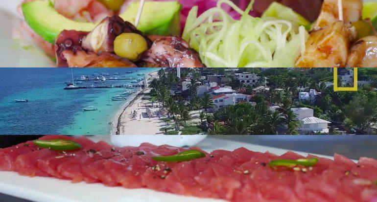 Comida y playa en Puerto Morelos