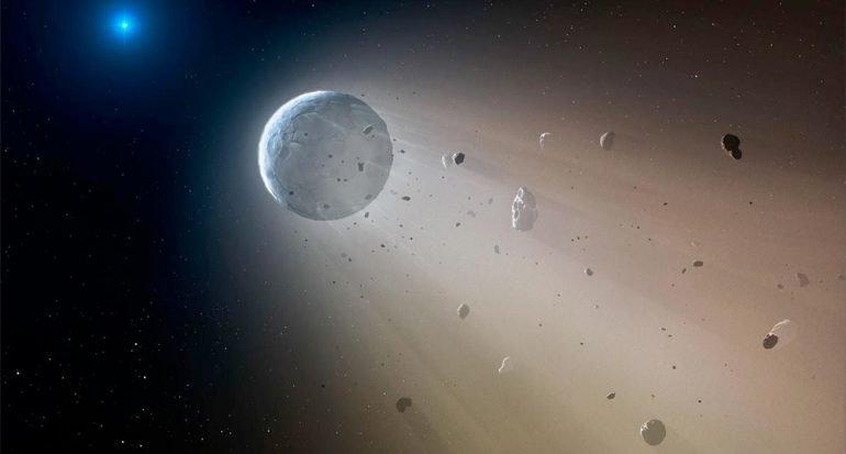 Descubren estrella zombi en banquete de asteroides