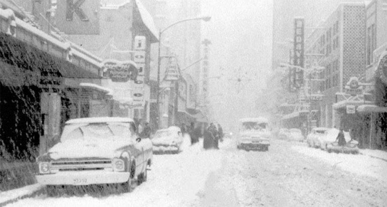 El 11 de enero de 1967 nevó por última vez en la Ciudad de México