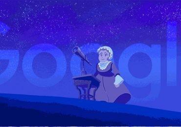 El Doodle de hoy: la cazadora de cometas Caroline Herschel