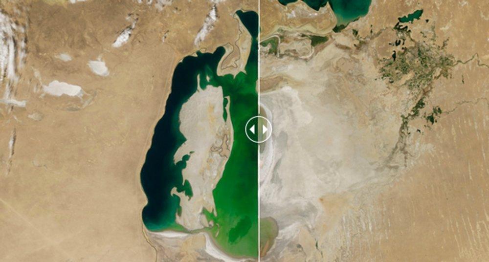 El antes y después del cambio climático, con ojos de la NASA