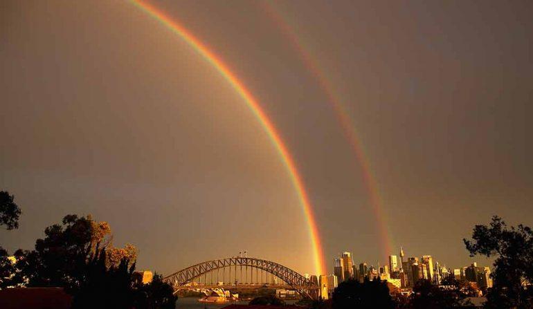 El arcoiris doble en Sidney