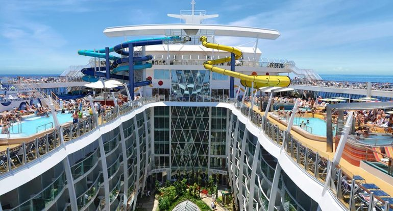 "El gigantesco tobogán acuático del ""Harmony of the Seas"""