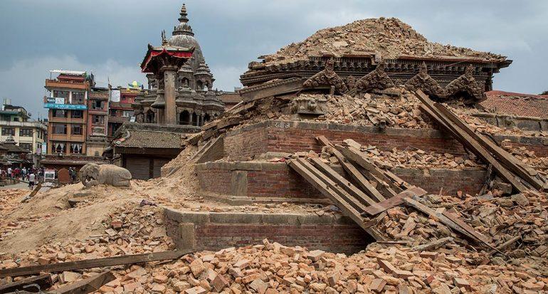 El daño en el patrimonio de Nepal