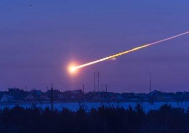 El impacto de un meteorito a la Tierra
