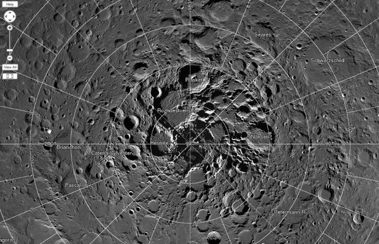 El polo norte de la luna puede recibir visitas