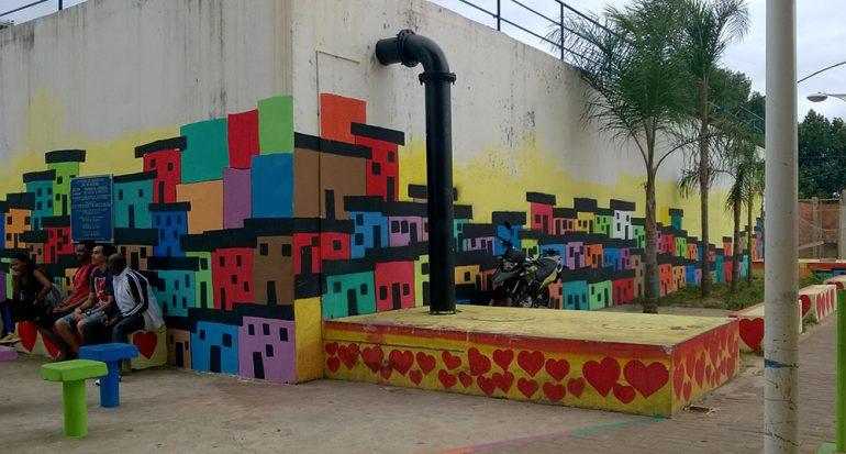 El proyecto de luz y color en las favelas