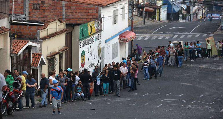 El racionamiento en Venezuela