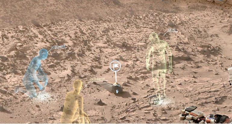 En Marte desde la oficina
