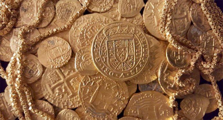 Encuentran tesoro millonario en naufragio español de 300 años