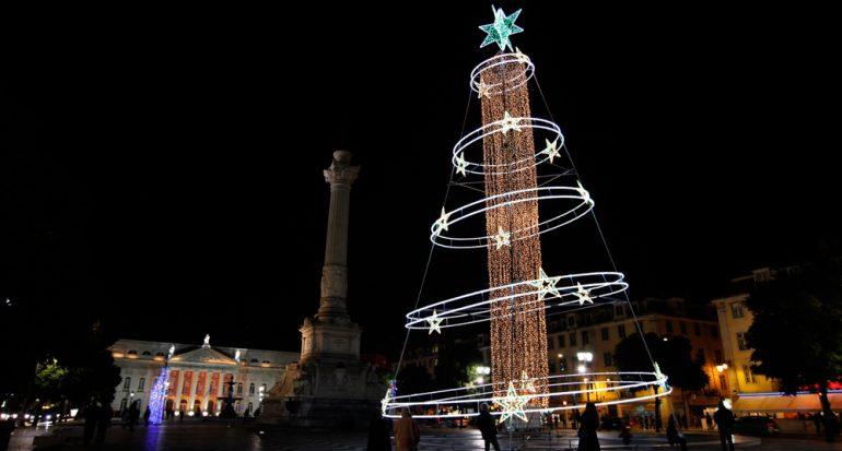 Espectáculo navideño 3D en Lisboa