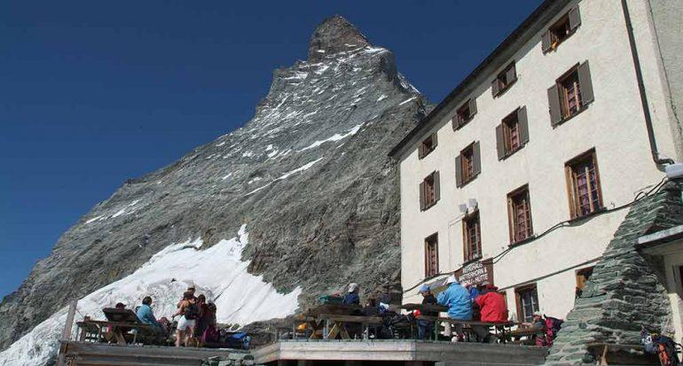 Fiesta en el rey de los Alpes