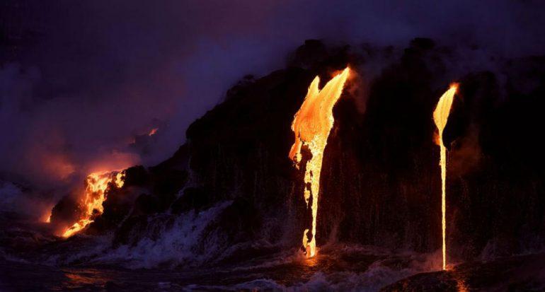 Fotografías impresionantes de la lava del volcán Kilauea