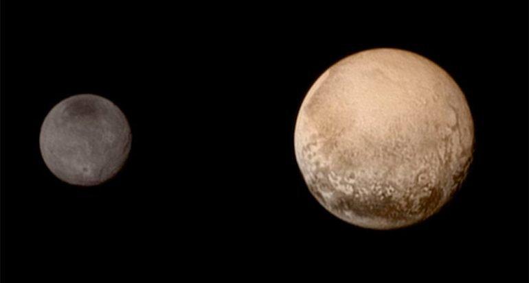 Fotografias de Plutón a través del tiempo
