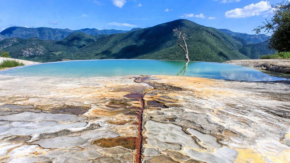 vista de Hierve el Agua