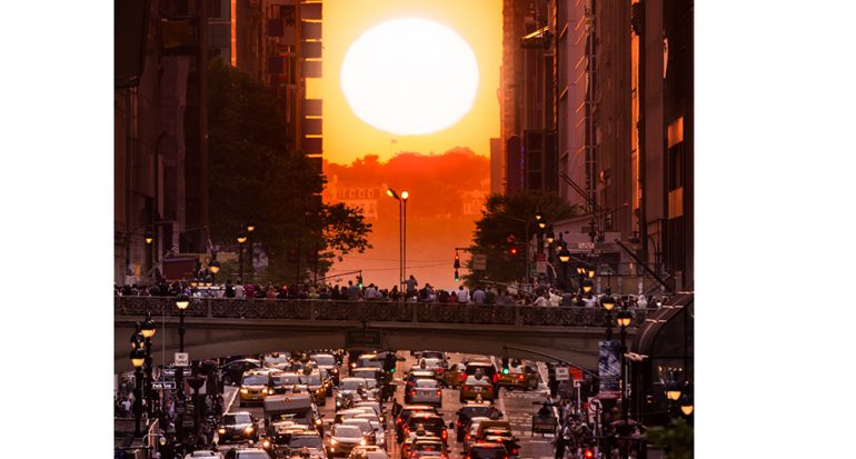 Hoy ocurrirá el atardecer más esperado en Nueva York