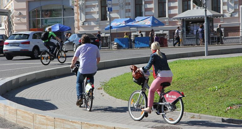 La bicicleta en el gusto de Moscú