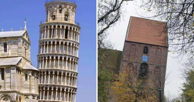 La iglesia inclinada derroca el récord de la Torre de Pisa