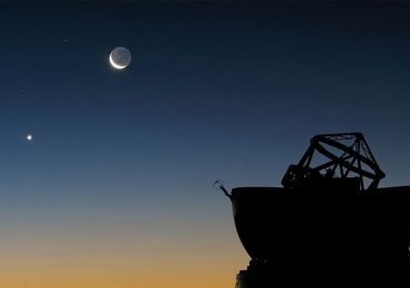 La luna se encontrará con Venus al amanecer
