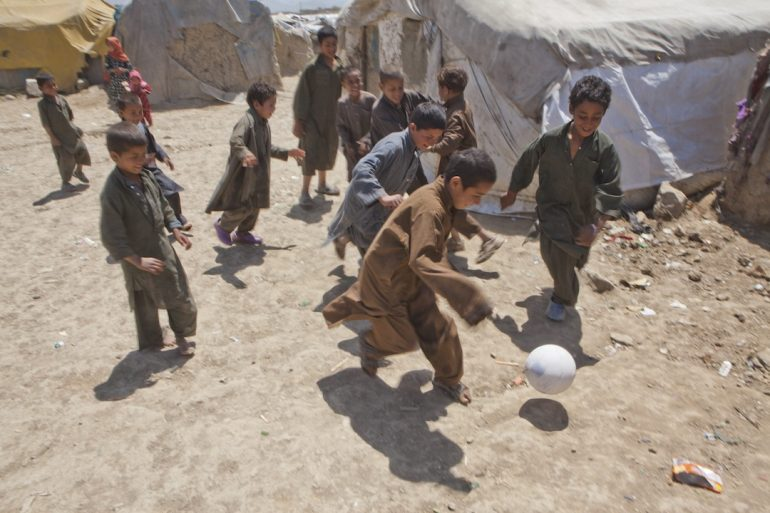La mezcla de Mundial y Afganistán