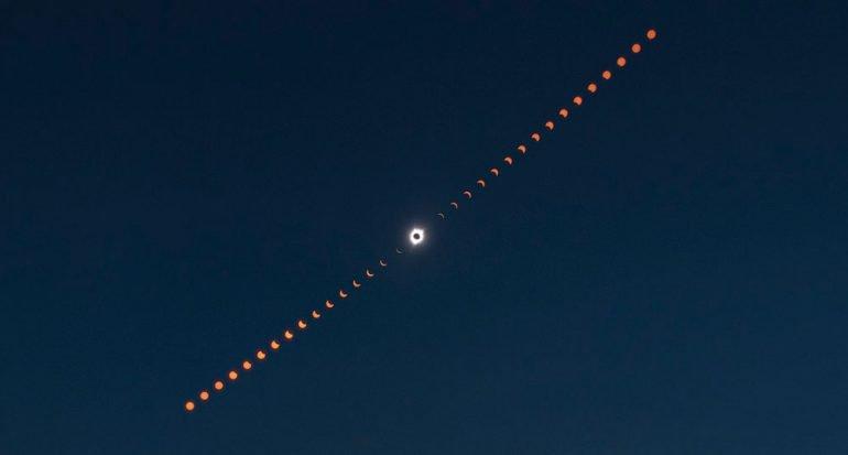Las mejores fotografías de NASA del eclipse solar total