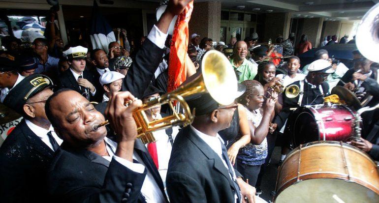 Las procesiones funerales de jazz de Nueva Orleans