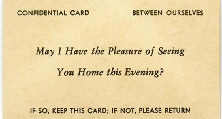 Las tarjetas del coqueteo en la época victoriana