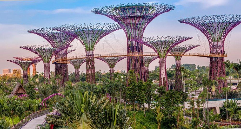 Los árboles futuristas de Singapur