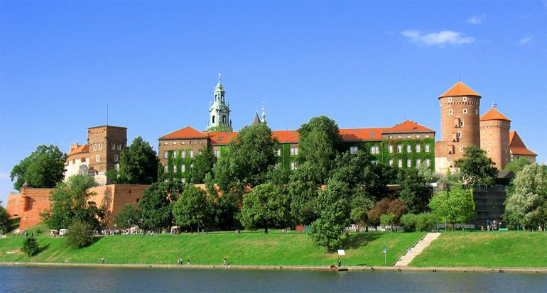 Los jardines del castillo de Cracovia