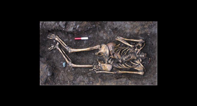 Los restos del cementerio romano descubierto