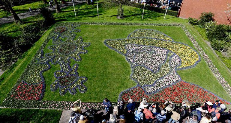 Los tulipanes que se parecen a Van Gogh