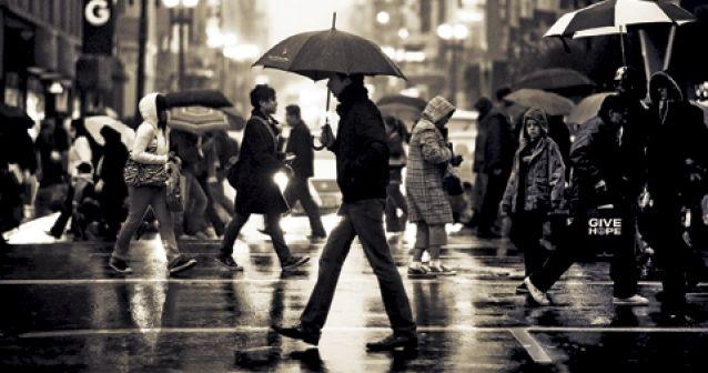 Luz y sombra | Lluvia en Union Square