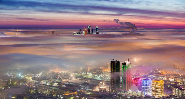 Moscú vista desde las nubes