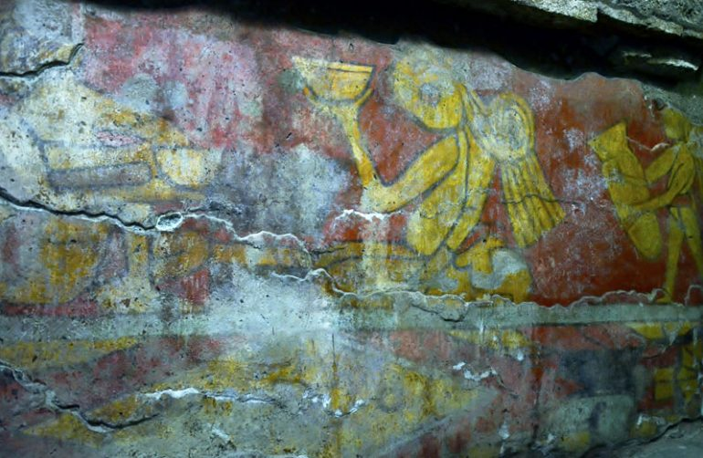 Muestran murales prehispánicos de Cholula