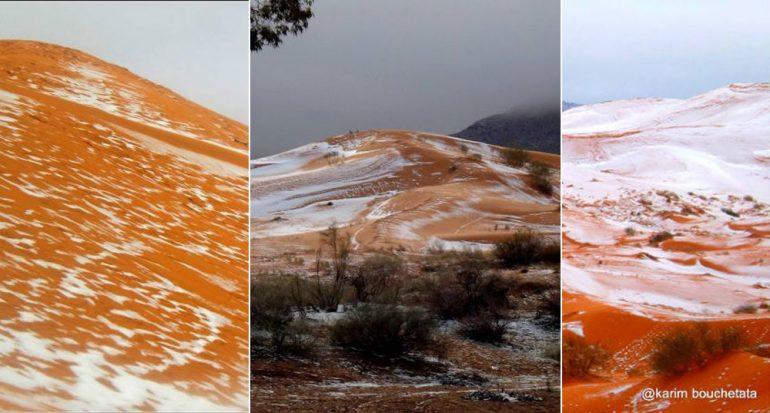 Nieva en el desierto