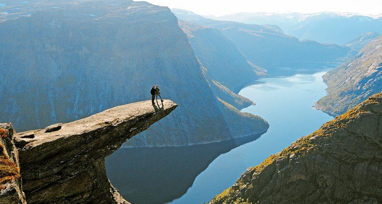 No subestimes el peligro de las montañas de Noruega