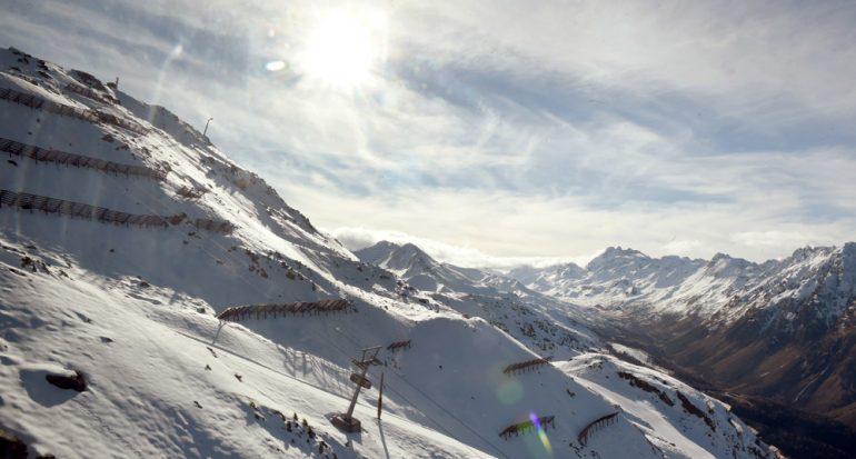 Nueva tirolesa en la estación de esquí austriaca de Ischgl