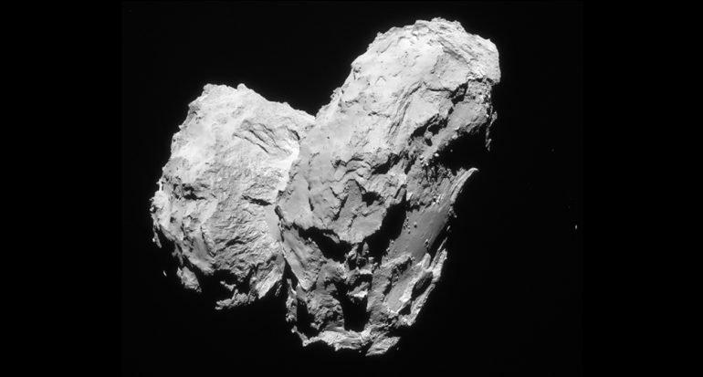 Porqué el cometa 67P parece un patito de hule