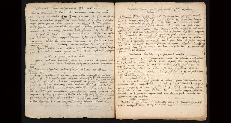 Redescubren receta alquímica perdida de Isaac Newton