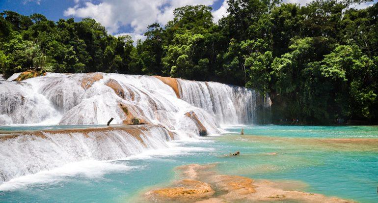 Se están secando las cascadas de Agua Azul